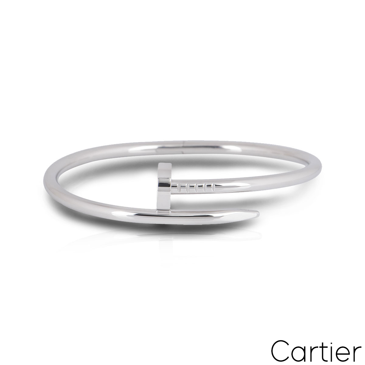 Cartier White Gold Plain Juste Un Clou Bracelet Size 20 B6048320